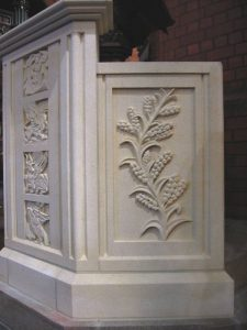 Oamaru Limestone ambo side panel