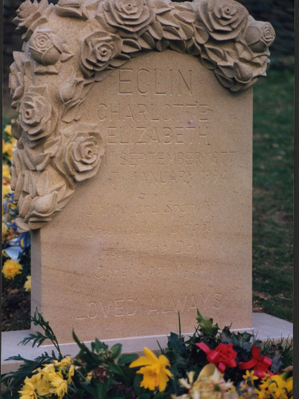 Hand carved memorial