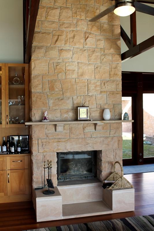 Far end fireplace