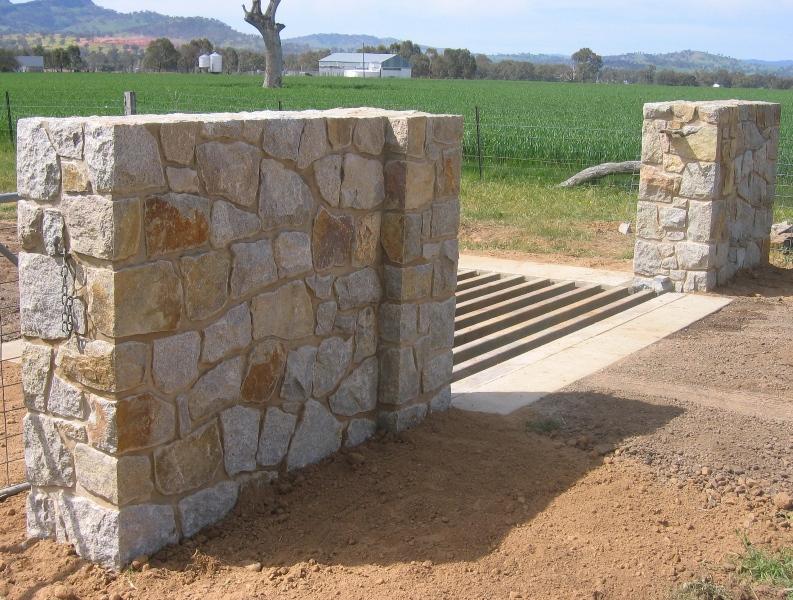 Granite entry