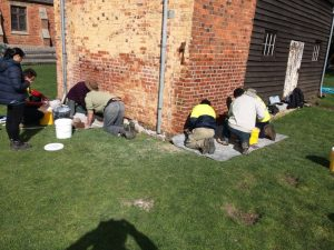 repointing with traditional lime mortar